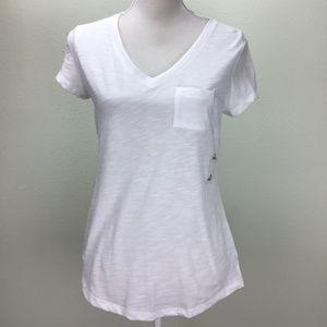 Maison Jules Women Short Sleeve Shirt Top White